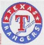 "506 Texas Rangers Logo - Baseball 18 Mesh 4"" Rnd. CBK Designs Keep Your Pants On"