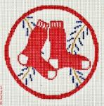 "502 Red Sox Logo - Baseball 18 Mesh 4"" Rnd. CBK Designs Keep Your Pants On"