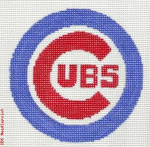 "511 Chicago Cubs Logo - Baseball 18 Mesh 4"" Rnd. CBK Designs Keep Your Pants On"