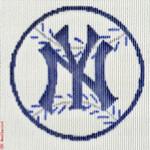 "503 Yankees Logo - Baseball 18 Mesh 4"" Rnd. CBK Designs Keep Your Pants On"