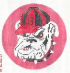 "512 University of Georgia - Bulldogs Logo 18 Mesh 4"" Rnd. CBK Designs Keep Your Pants On"