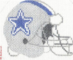 "508 Dallas Cowboys Helmet - Football 18 Mesh 4"" Rnd. CBK Designs Keep Your Pants On"