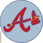"519 Atlanta Braves Logo - Baseball 18 Mesh 4"" Rnd. CBK Designs Keep Your Pants On"