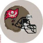 """524 T ampa Bay Buccaneers Helmet - Football 18 Mesh 4"""" Rnd. CBK Designs Keep Your Pants On"""