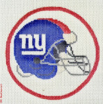 "504 New York Giants Logo - Football 18 Mesh 4"" Rnd. CBK Designs Keep Your Pants On"