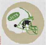 "513 New York Jets Helmet - Football 18 Mesh 4"" Rnd. CBK Designs Keep Your Pants On"