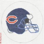 "509 Chicago Bears Helmet - Football 18 Mesh 4"" Rnd. CBK Designs Keep Your Pants On"