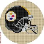 """520 Pittsburgh Steelers Helmet - Football 18 Mesh 4"""" Rnd. CBK Designs Keep Your Pants On"""