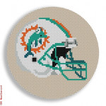 "538 Miami Dolphins Helmet - Football 18 Mesh 4"" Rnd. CBK Designs Keep Your Pants On"