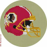 "514 Washington Red Skins Helmet - Football 18 Mesh 4"" Rnd. CBK Designs Keep Your Pants On"