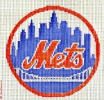 "505 New York Mets Logo - Baseball 18 Mesh 4"" Rnd. CBK Designs Keep Your Pants On"