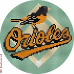 "515 Baltimore Orioles Logo - Baseball 18 Mesh 4"" Rnd. CBK Designs Keep Your Pants On"