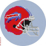 "522 Buffalo Bills Helmet - Football 18 Mesh 4"" Rnd. CBK Designs Keep Your Pants On"