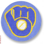 "1004 Milwaukee Brewers 18 Mesh 4"" Rnd. CBK Designs Keep Your Pants On"