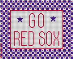 "526 Go Red Sox Sign 18 Mesh 5 x 4"" CBK Designs Keep Your Pants On"
