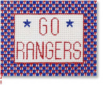 "1010 Go Rangers - 5 x 4"" rect. 18 Mesh CBK Designs Keep Your Pants On"