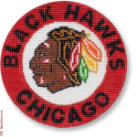 "1013 Chicago Blackhawks 18 Mesh 4"" Rnd. CBK Designs Keep Your Pants On"