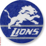 "1007 Detroit Lions Logo - Football 18 Mesh 4"" Rnd. CBK Designs Keep Your Pants On"