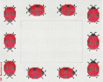 "465a  Ladybugs-all red 18 Mesh  8.5 x 6.75"" CBK Designs Keep Your Pants On"