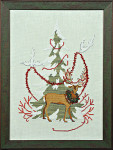 MIR-KIT14 Christmas Tree 2011 (w/beads & floss) Kit Nora Corbett