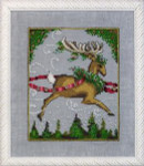 "NC116 Nora Corbett Blitzen - Christmas Eve Couriers Approximate size 5"" w x 6.25"" h"
