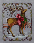 "NC117 Nora Corbett Vixen Christmas Eve Couriers Approximate size 5"" w x 6.25"" h"