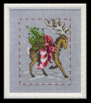 "NC119 Nora Corbett Prancer Christmas Eve Couriers Approximate size 5"" w x 6.25"" h"