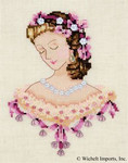 "NC104 Nora Corbett Portrait Of Caroline In Pink Approximate design size 5"" w x 6.5"" h"