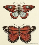 "NC105 Nora Corbett Butterflies Of Gold Approximate design size 9.5"" w x 7.5"" h"