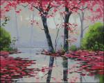 13-2225 Misty Pink (Needlepoint) (Cross-Stitch) by Paula's Patterns 416w x 331h