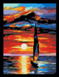 13-2194 Toward The Sun (XS & Needlepoint) 93 x 121 by Paula's Patterns
