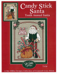 13-2757 Candy Stick Santa 96w x 122h Sue Hillis Designs YT