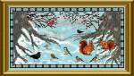 Dinky-Dyes Châtelaine Designs CHAT085 Winter Birds