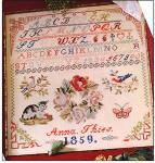 Sampler - Anna 1859 Permin Graphs