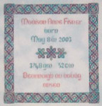 JM-001 DD Designs Celtic Birth Sampler With Silk Pack