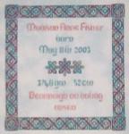 JM-001 Dinky-Dyes DD Designs Celtic Birth Sampler With Silk Pack