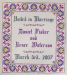 JM-041 DD Designs Floral Wedding Sampler