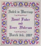 JM-041 Dinky-Dyes DD Designs Floral Wedding Sampler