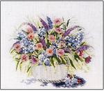 Flower Basket Watercolors Permin Graphs