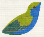 LL306R Labors Of Love Blue And Green Hummingbird 18 Mesh 4.25x3.5