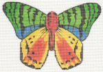 LL440A Labors Of Love Multi Color Butterfly 18 Mesh 6.25x4.25