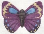 "LL440B Labors Of Love Purple Butterfly 18 Mesh 6"" x 4.5"""
