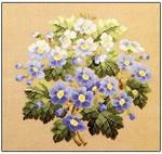 Blue Spring Flowers Permin Graphs