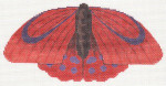 LL440F Labors Of Love Red Butterfly 18 Mesh 7x3.5