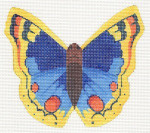 LL440G Labors Of Love Blue And Yellow Butterfly 18 Mesh 5.25x4.75