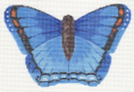 LL440D Labors Of Love Blue Butterfly 18 Mesh 6.25x4