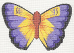 LL440I Labors Of Love Yellow And Purple Butterfly 18 Mesh  6.25x4.25