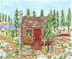 SWB152 Mountain Cabin 8X10 18 Mesh Cooper Oaks Designs