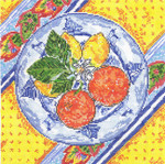SWB1030 Lemon & Orange Plate 8X8 18 Mesh Cooper Oaks Designs