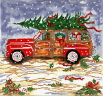 SWB136 Woody/Christmas 9X9 18 Mesh Cooper Oaks Designs